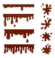 Chocolate blots splashes and smudges vector