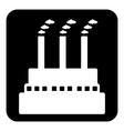 Factory symbol button vector