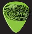 Guitar pick fingerprint green vector