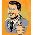 Man thumb up vector
