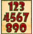 Christmas numbers vector