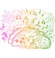 Right brain hemisphere vector
