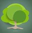Paper green tree vector