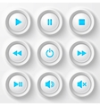 Blue plastic navigation buttons vector