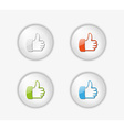 Thumb button vector