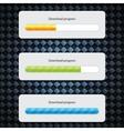 Preloader progress web downloading bar vector