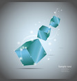 Abstract cubes with glow eps10 vector
