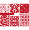 Set of fabric textures with different lattices vector