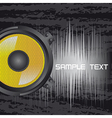 Music speakers background vector