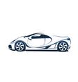 Speedy racing sport car vector