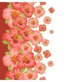 Seamless floral pattern with pretty stylized vector