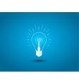 Light bulb idea icon on blue background vector