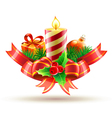 Christmas decorative composition vector