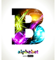 Design abstract letter b vector