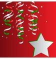 Christmas christmas streamers vector