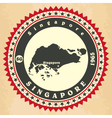 Vintage label-sticker cards of singapore vector