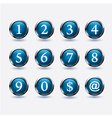 Set of buttons with number vector