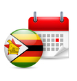 Icon of national day in zimbabwe vector