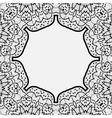 Ornamental frame border in indian mandala style vector