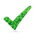 Green triangles check mark vector