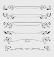 Vintage text dividers vector