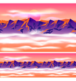 Mountain peaks in the clouds vector