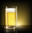 Glass of beer standing on a table vector