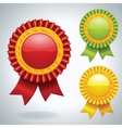 Collection of three medals vector