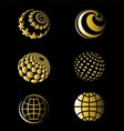 Golden of earth set vector