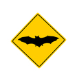 Bat warning sign vector