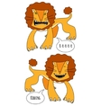 Angry and smiling lions vector