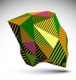 Bright geometric abstract 3d complicated backdrop vector