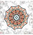 Abstract circle ornamental border vector