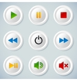 White plastic navigation buttons vector