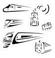 Train symbols vector