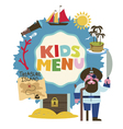 Treasure island menu for kids vector