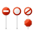 Blank traffic sign red vector