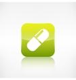 Medical pills icon application button vector