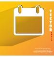 Calendar flat modern web button with long shadow vector