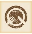 Grungy tableware icon vector