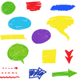 Felt tip pen scribbles set vector