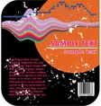 Background and barcode vector