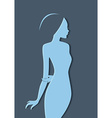Beautiful womans silhouette image vector