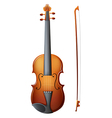 A brown violin vector