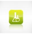Medical flack icon application button vector