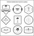 Vintage barber shop badge labels vector