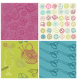Sewing kit - set of seamless backgrounds vector
