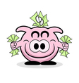 Rich piggy bank vector