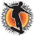 Skateboarder design vector