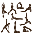 Set of yoga poses vector